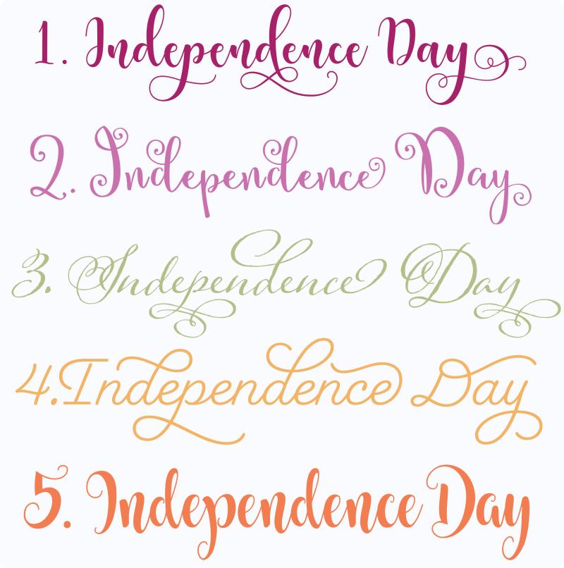 IndependenceDayFontsPNG